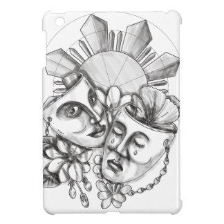 Drama Mask Hibiscus Sampaguita Flower Philippine S iPad Mini Cover