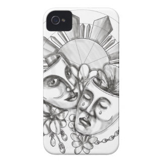 Drama Mask Hibiscus Sampaguita Flower Philippine S iPhone 4 Case-Mate Case