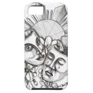 Drama Mask Hibiscus Sampaguita Flower Philippine S iPhone 5 Case