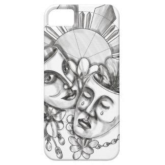Drama Mask Hibiscus Sampaguita Flower Philippine S iPhone 5 Covers