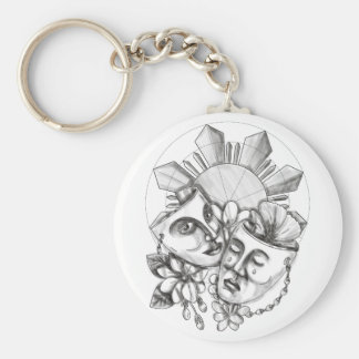 Drama Mask Hibiscus Sampaguita Flower Philippine S Keychain