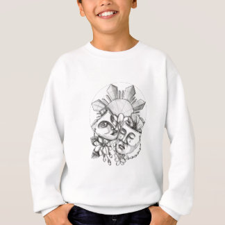 Drama Mask Hibiscus Sampaguita Flower Philippine S Sweatshirt