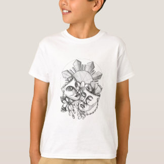 Drama Mask Hibiscus Sampaguita Flower Philippine S T-Shirt
