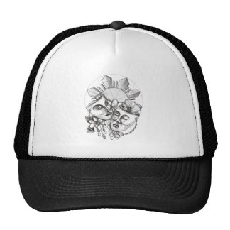 Drama Mask Hibiscus Sampaguita Flower Philippine S Trucker Hat