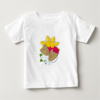 Drama Mask Philippine Sun Hibiscus Sampaguita Flow Baby T-Shirt