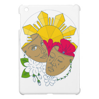 Drama Mask Philippine Sun Hibiscus Sampaguita Flow iPad Mini Cases