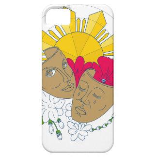 Drama Mask Philippine Sun Hibiscus Sampaguita Flow iPhone 5 Cover