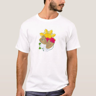 Drama Mask Philippine Sun Hibiscus Sampaguita Flow T-Shirt