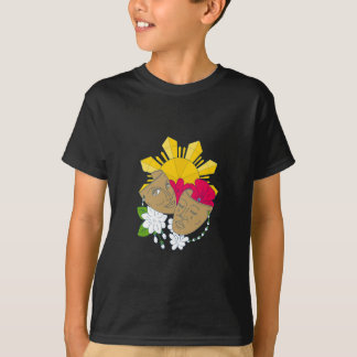 Drama Mask Philippine Sun Hibiscus Sampaguita Flow T-Shirt