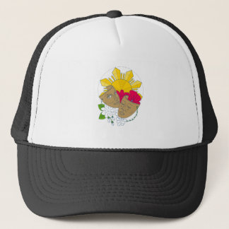 Drama Mask Philippine Sun Hibiscus Sampaguita Flow Trucker Hat