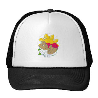 Drama Mask Philippine Sun Hibiscus Sampaguita Flow Trucker Hat