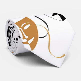 Drama Mask Theatre Themed Personalized Tie
