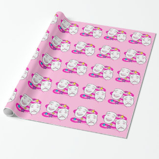 Drama Masks Comedy Tragedy Wrapping Paper