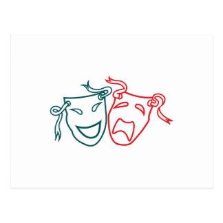 Drama Masks Postcard