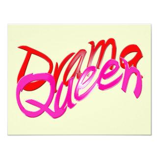 """Drama Queen 4.25"""" X 5.5"""" Invitation Card"""
