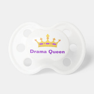 Drama Queen baby pacifier with crown