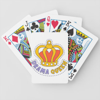Drama Queen Crown Bicycle Playing Cards