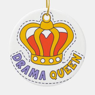 Drama Queen Crown Ceramic Ornament