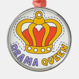 Drama Queen Crown Metal Ornament