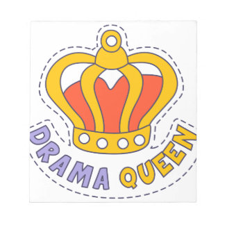 Drama Queen Crown Notepad