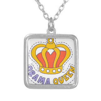 Drama Queen Crown Silver Plated Necklace