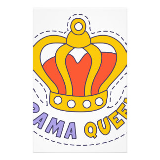 Drama Queen Crown Stationery