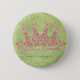 Drama Queen Round Button