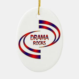 Drama Rocks Ceramic Ornament
