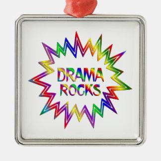 Drama Rocks Metal Ornament
