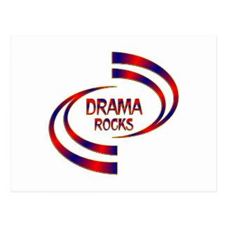 Drama Rocks Postcard