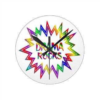 Drama Rocks Round Clock