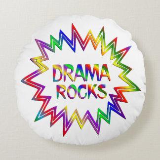 Drama Rocks Round Pillow