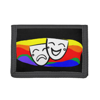 Drama: the Rainbow Swirls Trifold Wallet