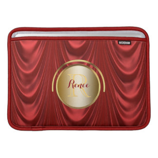 Drama Theatre Stage Curtains | Theater Monogram MacBook Sleeve