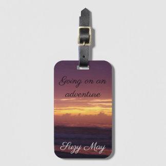 Dramatic Beach Sunrise Luggage Tag