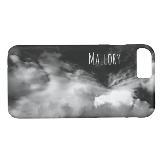 Dramatic Black & White Photo of Cloudy Sky iPhone 8/7 Case
