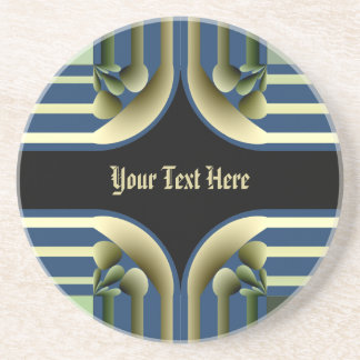 Dramatic! Colorful Abstract Coaster