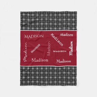 Dramatic Colors w/Name Personalization Fleece Blanket
