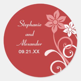 Dramatic Floral Swirls Wedding Stickers