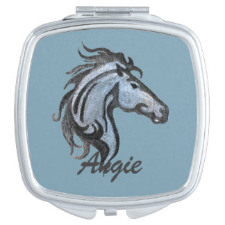 Dramatic Horse Compact Mirror