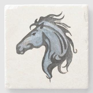 Dramatic Horse Design Stone Coaster