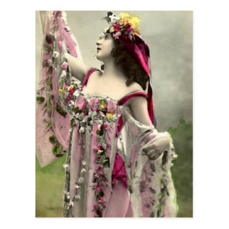 Dramatic in Flowers Postcard