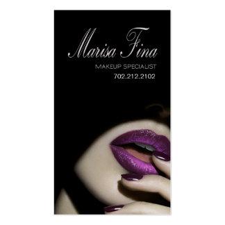 Dramatic Lips Makeup Artist Business Card