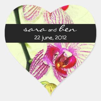 Dramatic Orchid Yellow Wedding Sticker