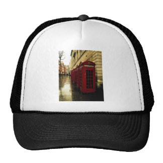 Dramatic phone boxes trucker hat