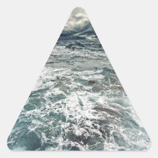 Dramatic Seas Triangle Sticker