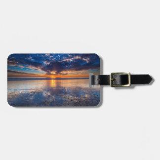 Dramatic seascape, sunset, CA Bag Tag