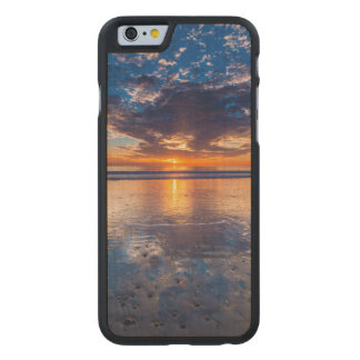 Dramatic seascape, sunset, CA Carved® Maple iPhone 6 Slim Case