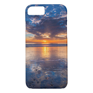 Dramatic seascape, sunset, CA iPhone 7 Case
