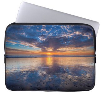 Dramatic seascape, sunset, CA Laptop Sleeve